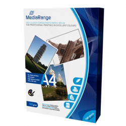 MediaRange DIN A4 Photo Paper for inkjet printers, Brilhante, 160g, 100 uni