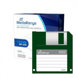 MediaRange 3.5 Floppy Disks 1.44MB|MF-2HD, Pack 10