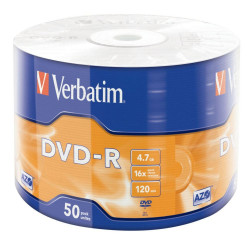 Verbatim Verbatim DVD-R AZO 4.7GB 16X MATT SILVER SURFACE Shrink 50