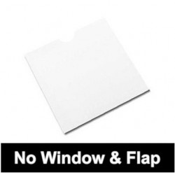 Cardboard Sleeves for CD | DVD | BD without flap, without window, white, Pack 50