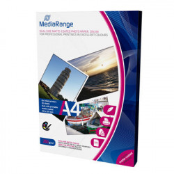 MediaRange DIN A4 Photo Paper for inkjet printers, dual-side matte-coated, 250g, 50 sheets