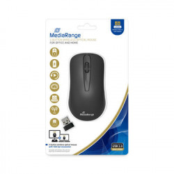 MediaRange 3-button wireless optical mouse, Rato Preto