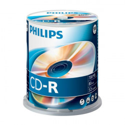 PHILIPS CD-R 80MIN 700MB 52X, 100 UNIDADES