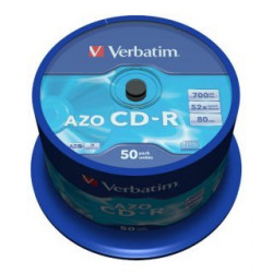 Verbatim CD-R AZO 700MB 52X CRYSTAL SURFACE Cake 50