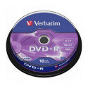 Verbatim DVD+R AZO 4.7GB 16X MATT SILVER SURFACE Cake 10