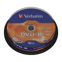 Verbatim DVD-R AZO 4.7GB 16X MATT SILVER SURFACE Cake 10