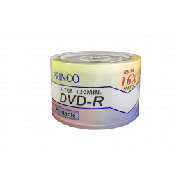 DVD-R Princo Budget Fullface Printable 16X - Pack 50