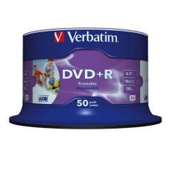 Verbatim DVD+R AZO 4.7GB 16X WIDE PRINTABLE SURFACE NON-ID Cake 50
