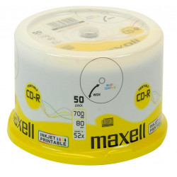 CD-R Maxell 52x - 700mb Printable Pack 50