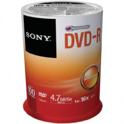 DVD-R SONY 4.7GB 16X Pack 100