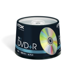 DVD+R TDK 4.7GB|120min 16x pack 50 .
