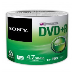 DVD+R Sony 4.7GB 50DPR47SB 16x Pack 50 .