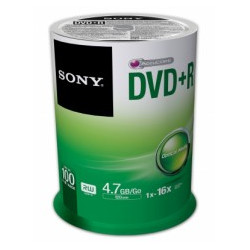 DVD+R Sony 4.7GB|120min 16x Pack 100 .