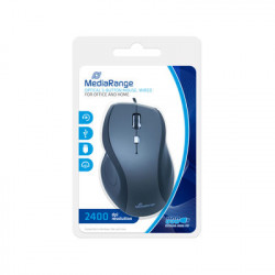 MediaRange Ratón Optical 5-button mouse, con fio, Negro/Gris