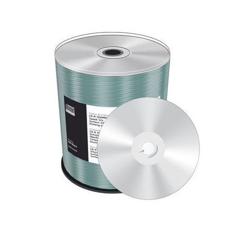 image regarding Printable Cd R named MediaRange CD-R 700MB80min 52x pace, silver, inkjet fullsurface printable, Cake 100 - DVDi.es