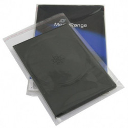 MediaRange clear plastic sleeves for 14mm DVD cases, Pack 100
