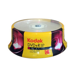 Kodak DVD+R 4,7GB|120min 16X speed Pack 25