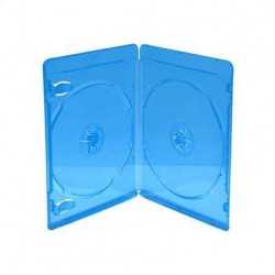 Estuche BluRay para 2 Disco 11mm Azul MediaRange